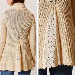 Anthro's knitted & knotted sorretta lace cardigan